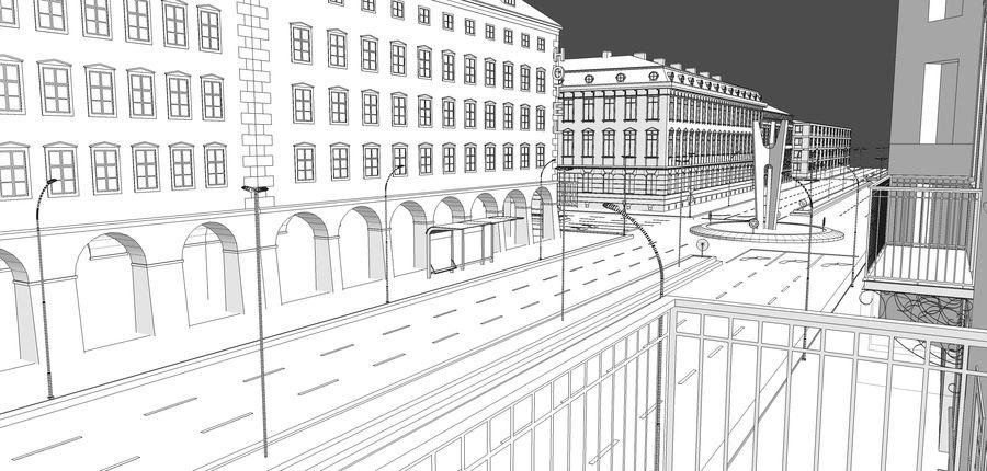 Ciudad - Las calles de Europa royalty-free modelo 3d - Preview no. 31