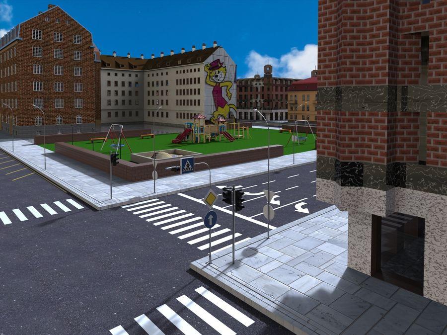 Ciudad - Las calles de Europa royalty-free modelo 3d - Preview no. 14