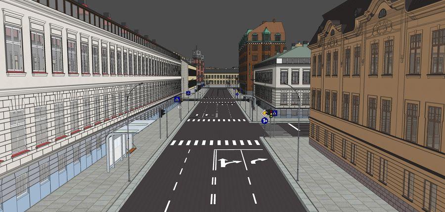 Ciudad - Las calles de Europa royalty-free modelo 3d - Preview no. 25