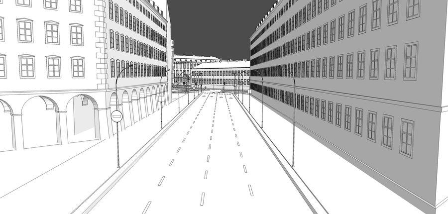 Ciudad - Las calles de Europa royalty-free modelo 3d - Preview no. 29