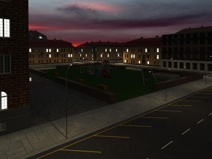 Ciudad - Las calles de Europa royalty-free modelo 3d - Preview no. 20