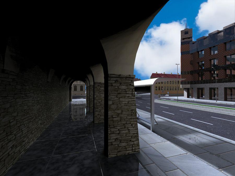 Ciudad - Las calles de Europa royalty-free modelo 3d - Preview no. 8