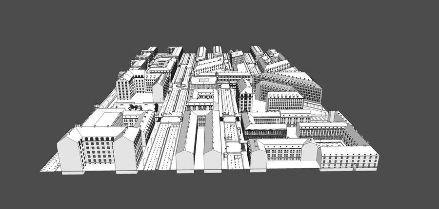 Ciudad - Las calles de Europa royalty-free modelo 3d - Preview no. 22