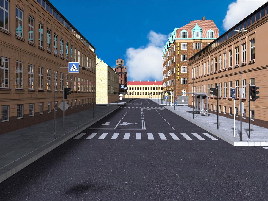 Ciudad - Las calles de Europa royalty-free modelo 3d - Preview no. 2