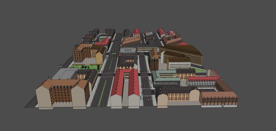 Ciudad - Las calles de Europa royalty-free modelo 3d - Preview no. 21