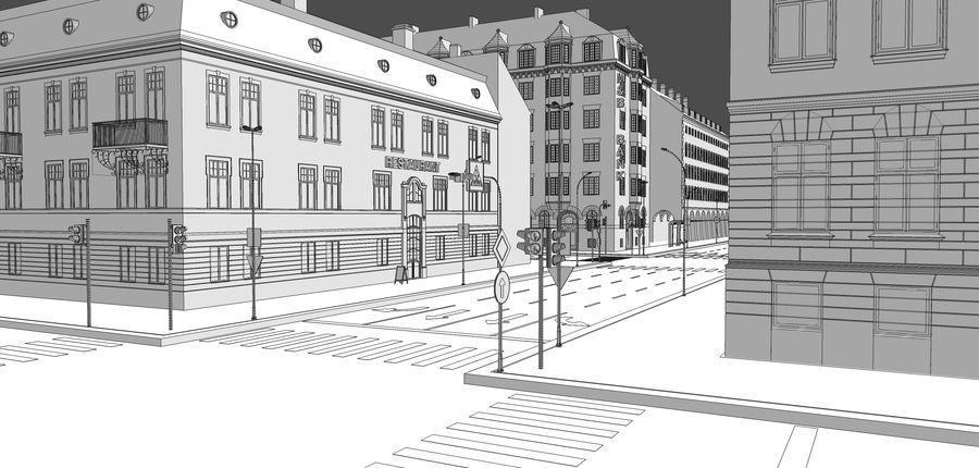 Ciudad - Las calles de Europa royalty-free modelo 3d - Preview no. 32