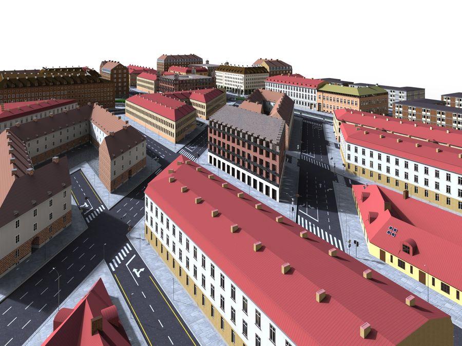 Ciudad - Las calles de Europa royalty-free modelo 3d - Preview no. 18
