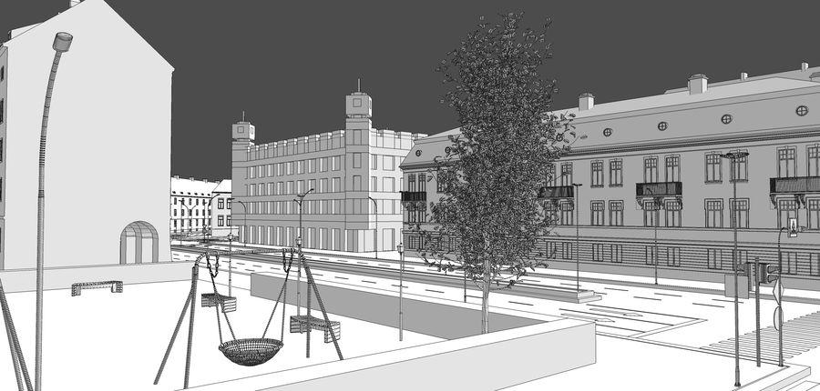 Ciudad - Las calles de Europa royalty-free modelo 3d - Preview no. 33