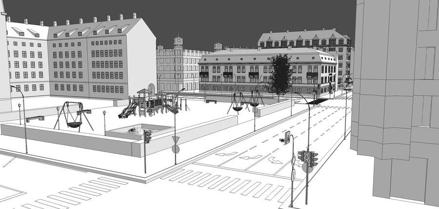Ciudad - Las calles de Europa royalty-free modelo 3d - Preview no. 27