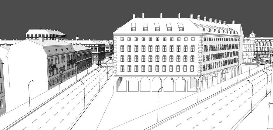 Ciudad - Las calles de Europa royalty-free modelo 3d - Preview no. 35