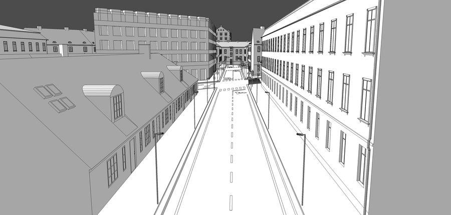 Ciudad - Las calles de Europa royalty-free modelo 3d - Preview no. 30