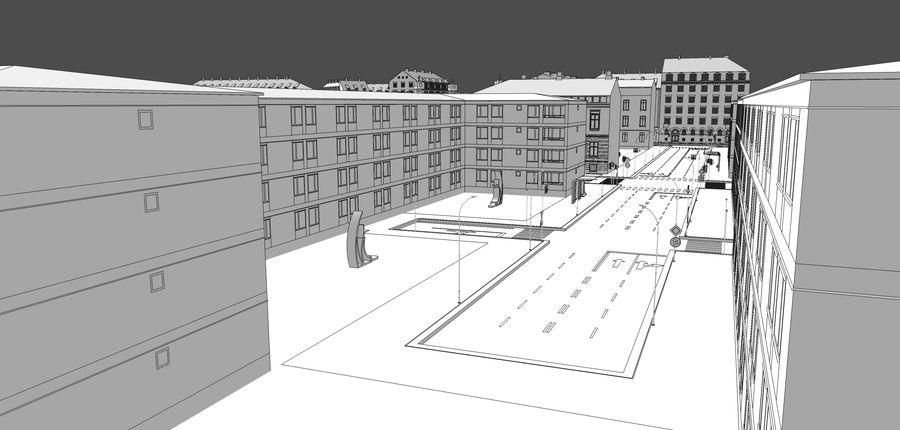 Ciudad - Las calles de Europa royalty-free modelo 3d - Preview no. 34