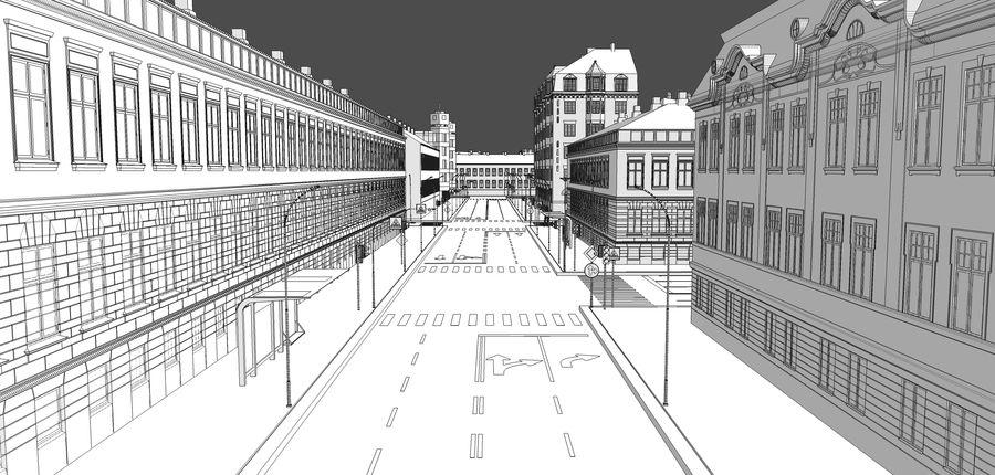 Ciudad - Las calles de Europa royalty-free modelo 3d - Preview no. 26