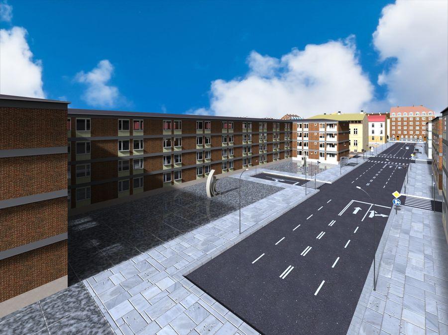 Ciudad - Las calles de Europa royalty-free modelo 3d - Preview no. 5