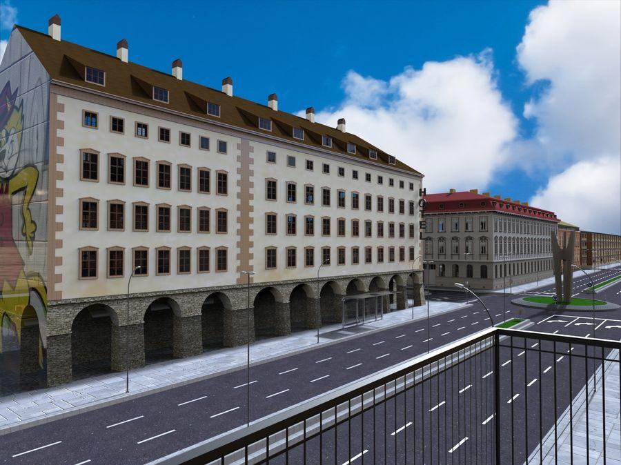 Ciudad - Las calles de Europa royalty-free modelo 3d - Preview no. 9