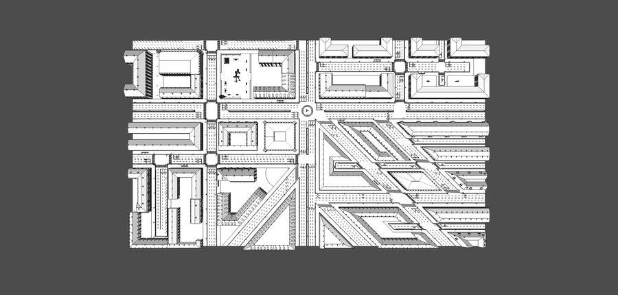Ciudad - Las calles de Europa royalty-free modelo 3d - Preview no. 24
