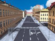 Ciudad - Las calles de Europa modelo 3d