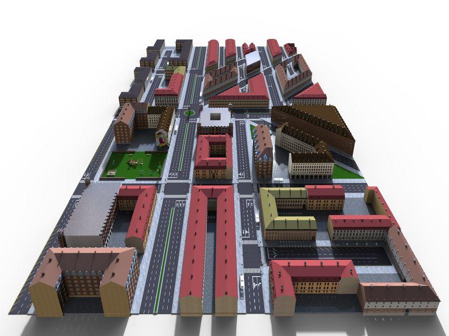 Ciudad - Las calles de Europa royalty-free modelo 3d - Preview no. 16