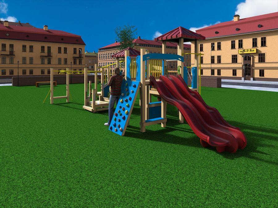 Ciudad - Las calles de Europa royalty-free modelo 3d - Preview no. 13