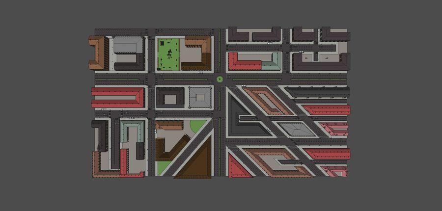 Ciudad - Las calles de Europa royalty-free modelo 3d - Preview no. 23