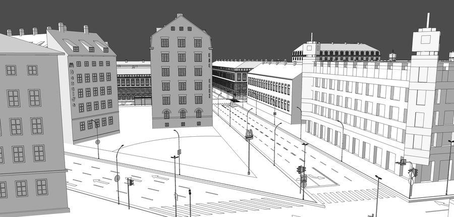 Ciudad - Las calles de Europa royalty-free modelo 3d - Preview no. 28