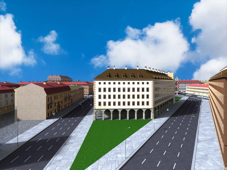 Ciudad - Las calles de Europa royalty-free modelo 3d - Preview no. 4