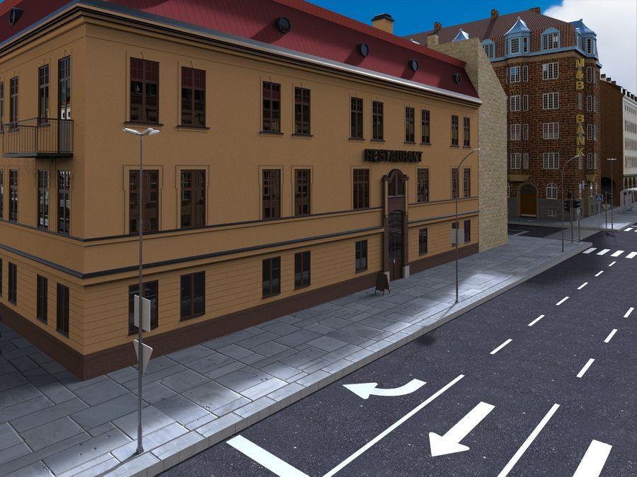 Ciudad - Las calles de Europa royalty-free modelo 3d - Preview no. 11