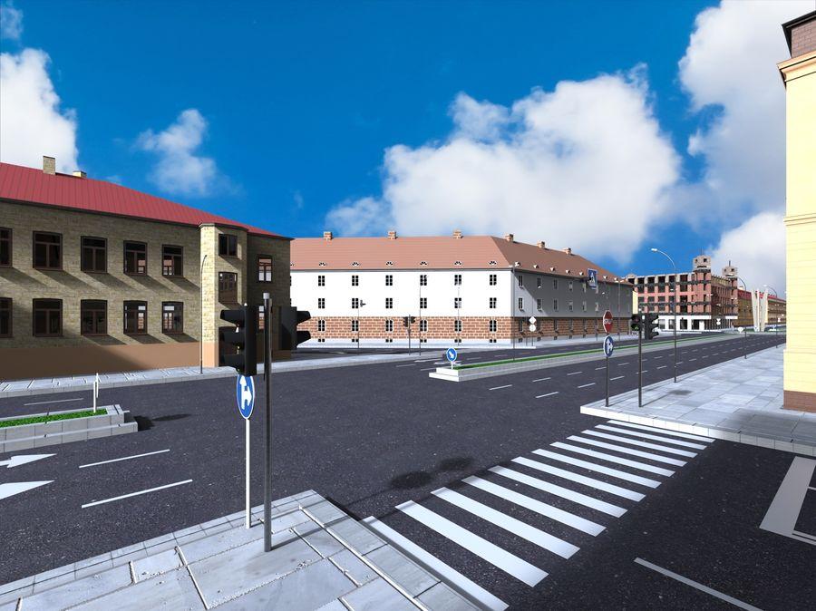 Ciudad - Las calles de Europa royalty-free modelo 3d - Preview no. 7