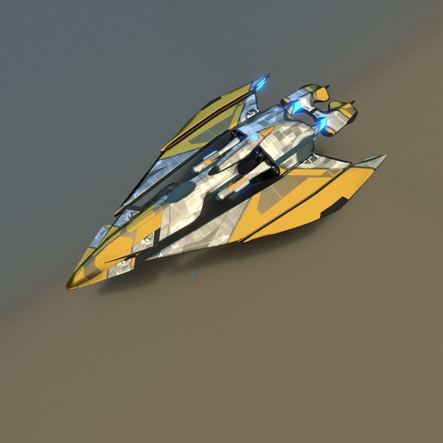 Gunship royalty-free 3d model - Preview no. 9