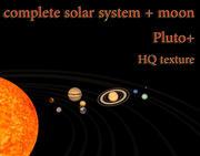 Solar system complete 3d model