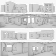 Abode house collection un intérieur + extérieur 3d model