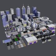 Modern City Builder Pack - Gebäudeumgebung für Städte Assets Pro 3d model
