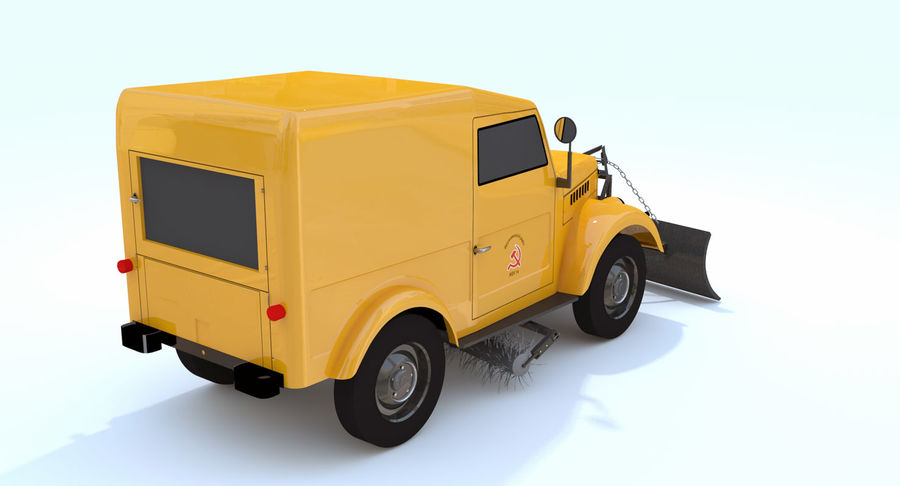 ГАЗ-69 Т3 (1953-1973) royalty-free 3d model - Preview no. 7