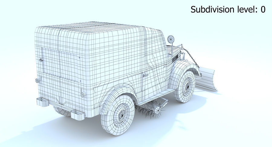 GAZ-69 T3 (1953-1973) royalty-free 3d model - Preview no. 12