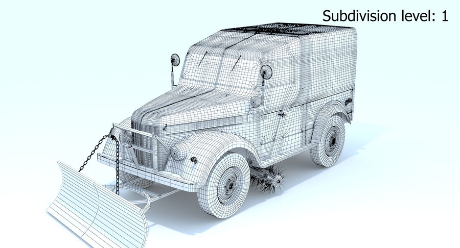 GAZ-69 T3 (1953-1973) royalty-free 3d model - Preview no. 18