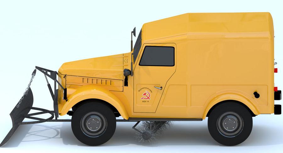 ГАЗ-69 Т3 (1953-1973) royalty-free 3d model - Preview no. 8