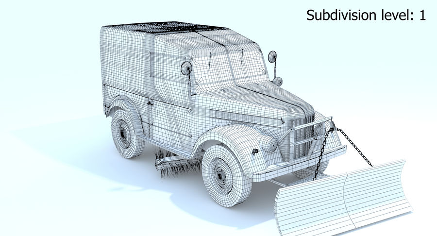 GAZ-69 T3 (1953-1973) royalty-free 3d model - Preview no. 15