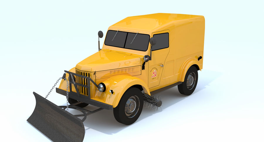 GAZ-69 T3 (1953-1973) royalty-free 3d model - Preview no. 3