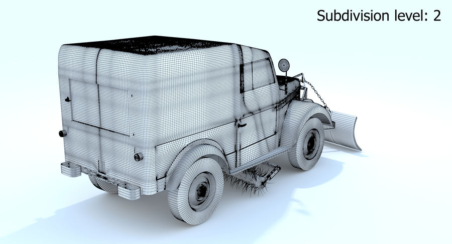GAZ-69 T3 (1953-1973) royalty-free 3d model - Preview no. 20