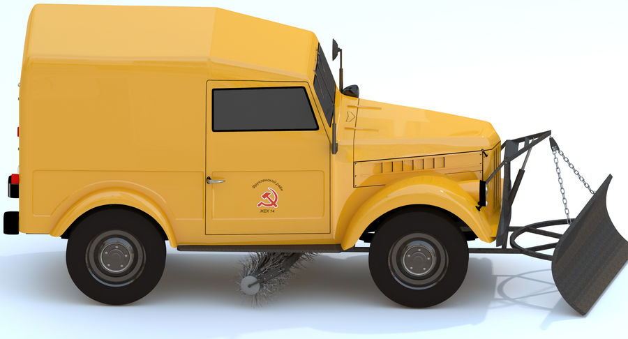 GAZ-69 T3 (1953-1973) royalty-free 3d model - Preview no. 9