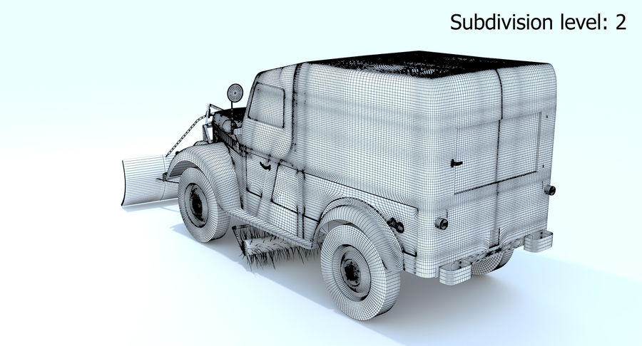 GAZ-69 T3 (1953-1973) royalty-free 3d model - Preview no. 21
