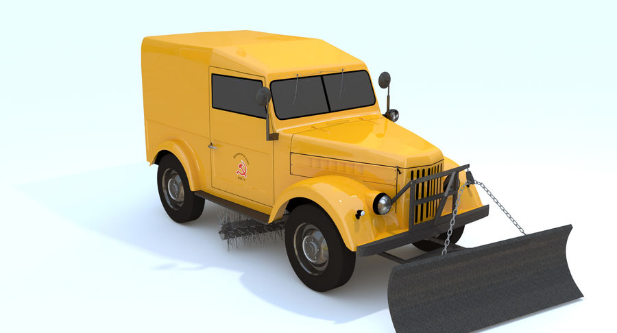 GAZ-69 T3 (1953-1973) royalty-free 3d model - Preview no. 6