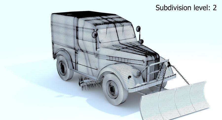ГАЗ-69 Т3 (1953-1973) royalty-free 3d model - Preview no. 19