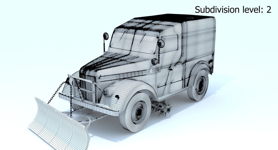 GAZ-69 T3 (1953-1973) royalty-free 3d model - Preview no. 22