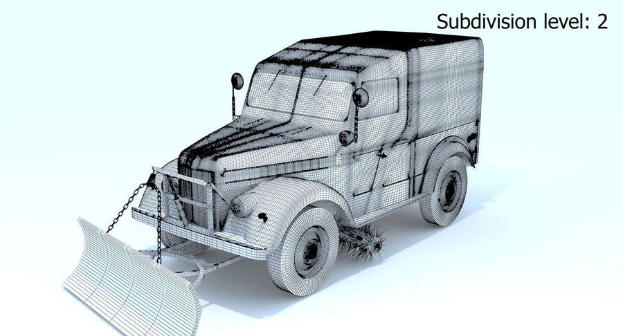 ГАЗ-69 Т3 (1953-1973) royalty-free 3d model - Preview no. 22