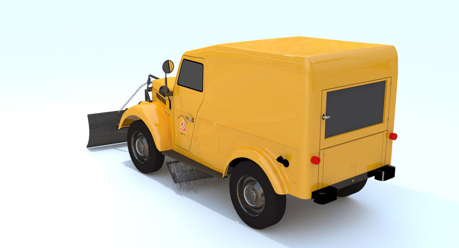 ГАЗ-69 Т3 (1953-1973) royalty-free 3d model - Preview no. 4