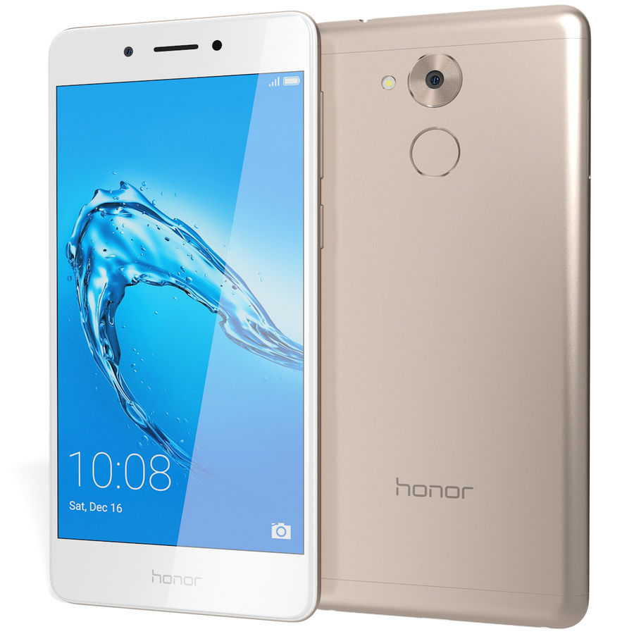 Honor 6C Gold royalty-free 3d model - Preview no. 3