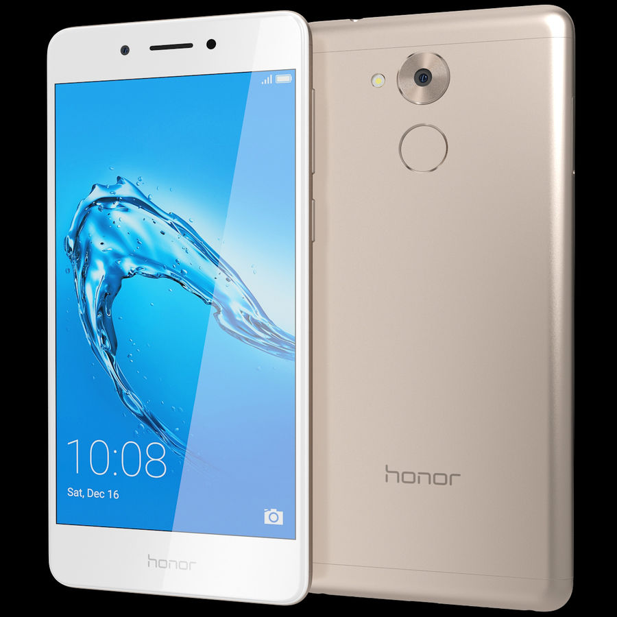 Honor 6C Gold royalty-free 3d model - Preview no. 2