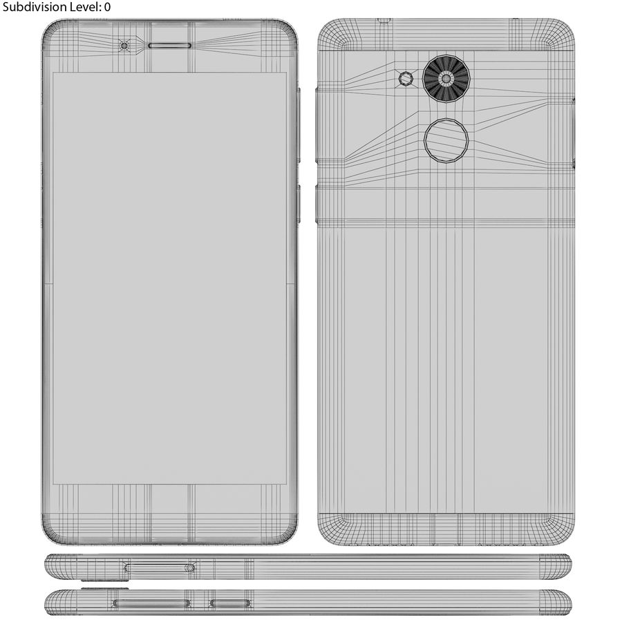 Honor 6C Gold royalty-free 3d model - Preview no. 19