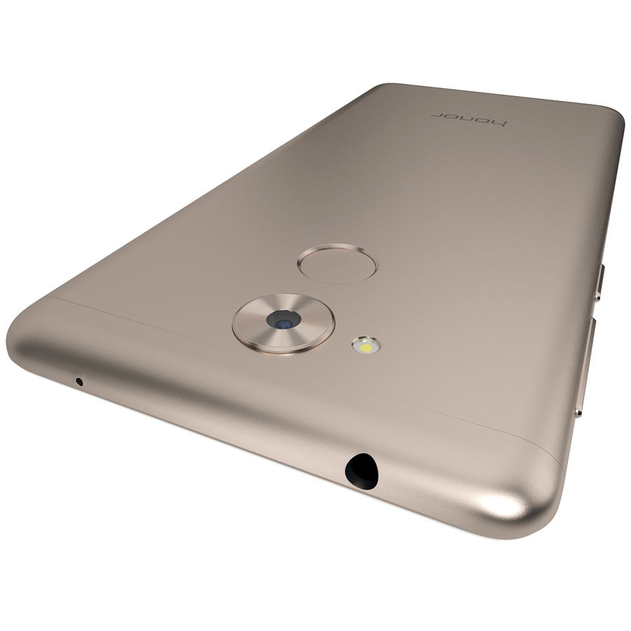Honor 6C Gold royalty-free 3d model - Preview no. 9